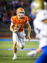 Central's Maverick McIvor runs the ball against Kerrville Tivy Friday, Sept. 15, 2017, at San Angelo Stadium.