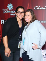 Celebrating at the Closing Night Party, from left, Jessica Jazayeri and Dawn Vargo.