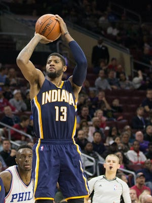 Paul George is fourth in the NBA in points per game with 25.9.