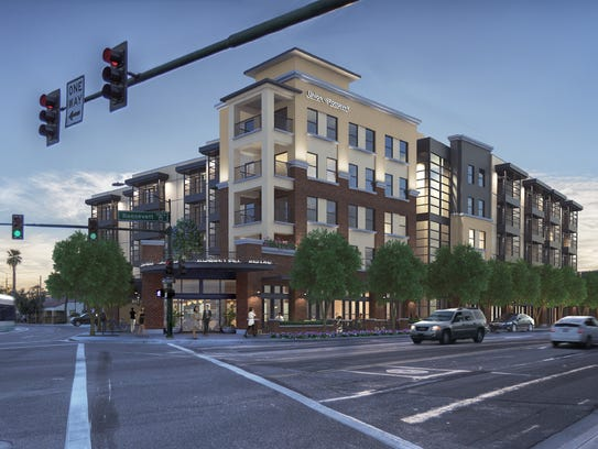 A rendering of Union at Roosevelt, a mixed-use project