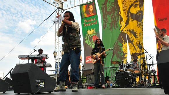 Judah Tribe performs with special guest Biggz General during the Peoples' Festival last year.