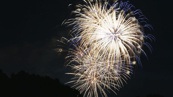 The Rotary Club of Ashland's Fourth of July fireworks burst over Freer Field on Saturday. The Rotary Club set out to sponsor its biggest fireworks show in 30 years as city residents spread out in various locations for social distancing.