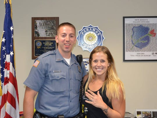 Paramus police officer Jon Henderson (left) found Kimberly
