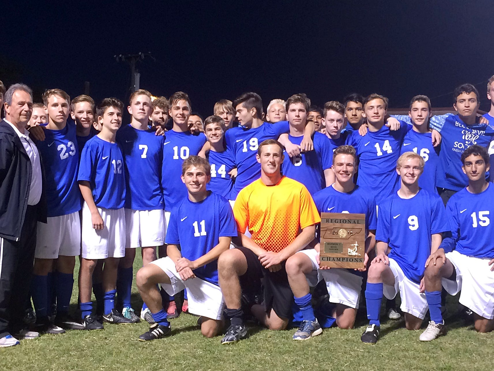 The White House High boys soccer team won the Region 5 A-AA Tournament title with Wednesday evening's 2-0 victory at Martin Luther King Magnet.
