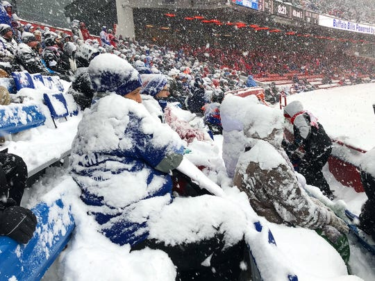 New Era Field will need to be shoveled out yet again before Sunday's game against Miami.