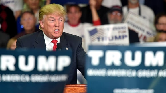 Republican presidential candidate Donald Trump is leading