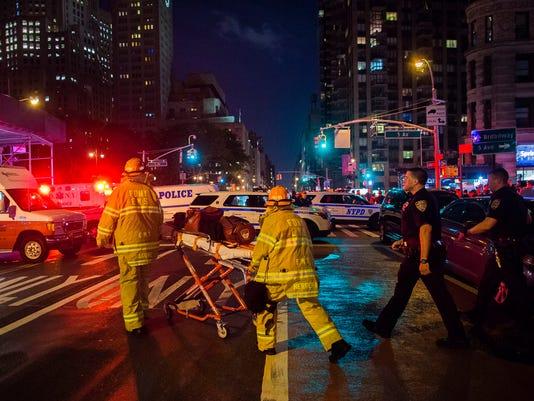 AP APTOPIX MANHATTAN EXPLOSION A USA NY