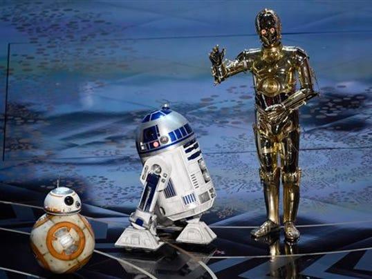 BB-8, R2-D2, C-3PO