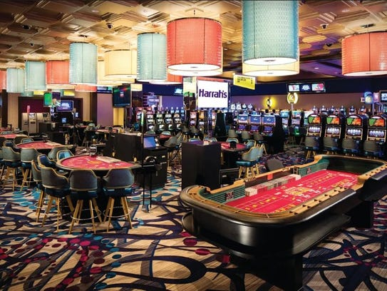 The casino floor at Harrah