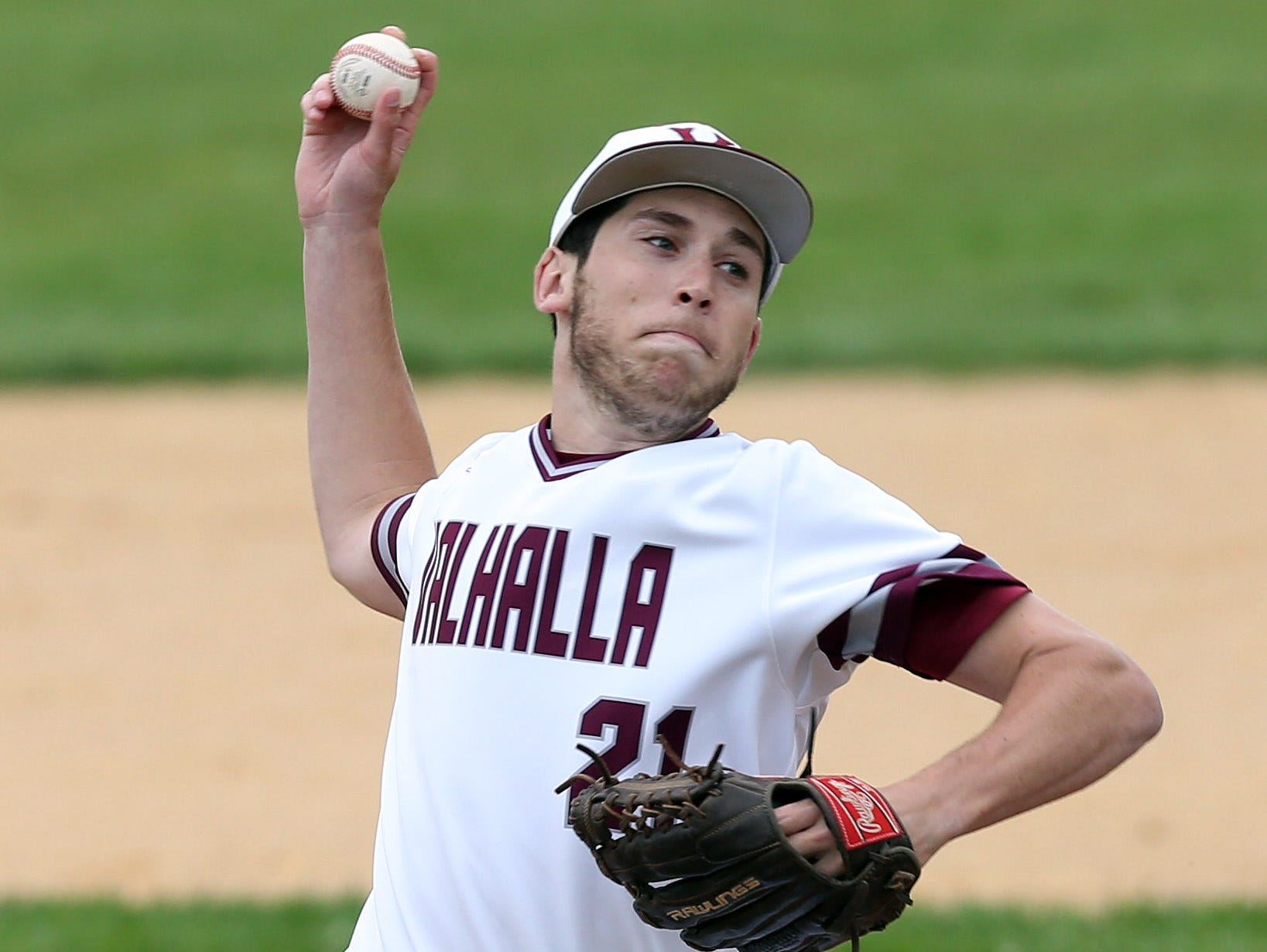 Valhalla's Jason Wolfthal pitched a 4-0 shutout against Westlake Tuesday at Valhalla High School.