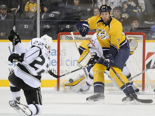 Hal Gill played 55 games for the Predators during the
