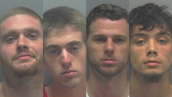 From left: Channing Meitz, 28; Paul Weigandt, 18; Kaleb Crowell, 26; and Tristan Chaleunsouk, 18