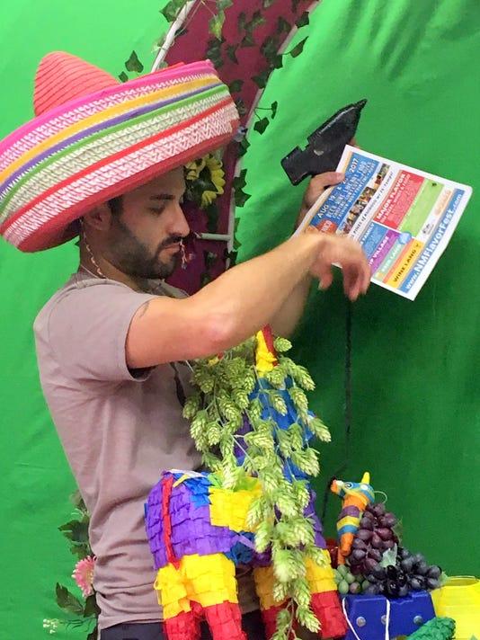 Brett Nichols prepares for the annual fest
