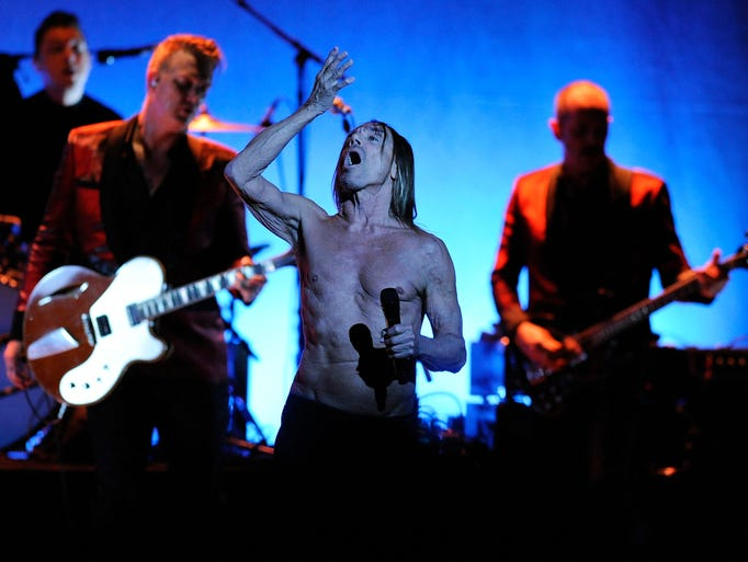 "Iggy Pop sings ""Valhalla"" during his concert at the"