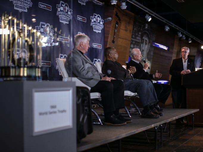 (Left to right) 1968 Detroit Tigers World Series champions