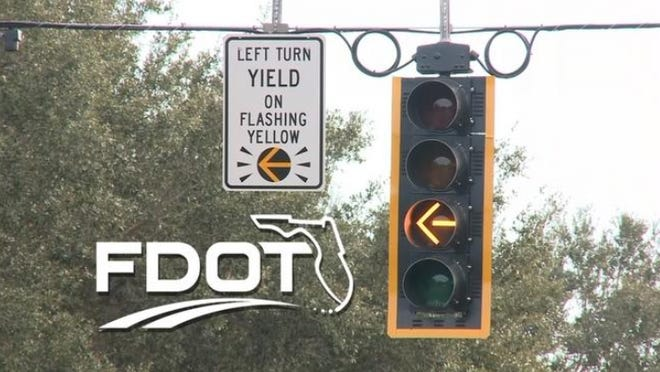 Palm Beach County will install flashing yellow arrow left-turn traffic signals at four intersections in Palm Beach Gardens and Jupiter on Thursday. The new signals will make roads safer for motorists and pedestrians, county traffic officials said.