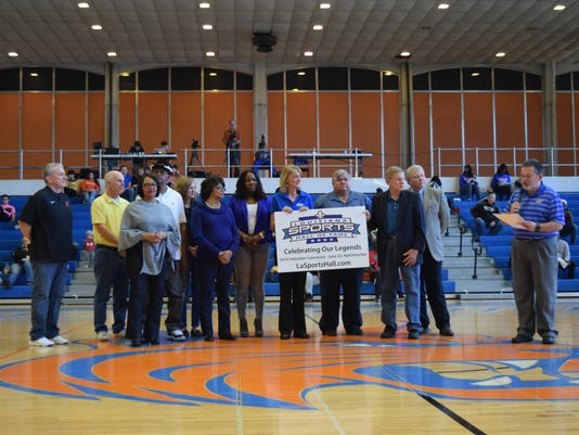 Officials of the Louisiana Sports Hall of Fame and Louisiana College, along with family members of the late Louisiana College women's basketball coach Janice Joseph-Richard, announce that that she will be inducted into the Louisiana Sports Hall of Fame.