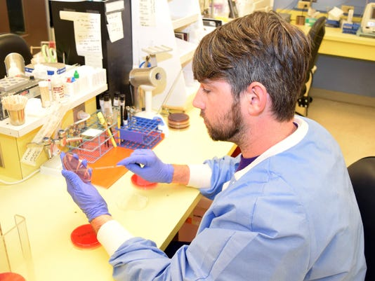 Derek Smith, a senior at LSUA, is in the Clinical Lab Technician Program at LSUA. He is doing a clinical rotation in the microbiology lab at St. Frances Cabrini Hospital.