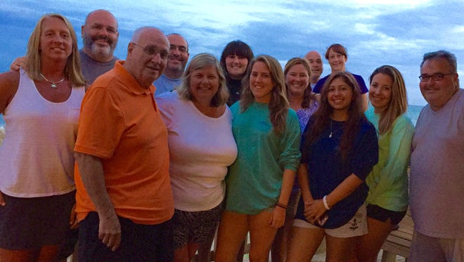 The Gentry family and friends on their 2016 vacation to the Southern Outer Banks in North Carolina.