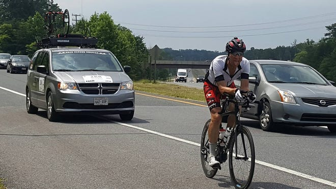 Dave Haase finished the 3,000-mile Race Across America June 24.