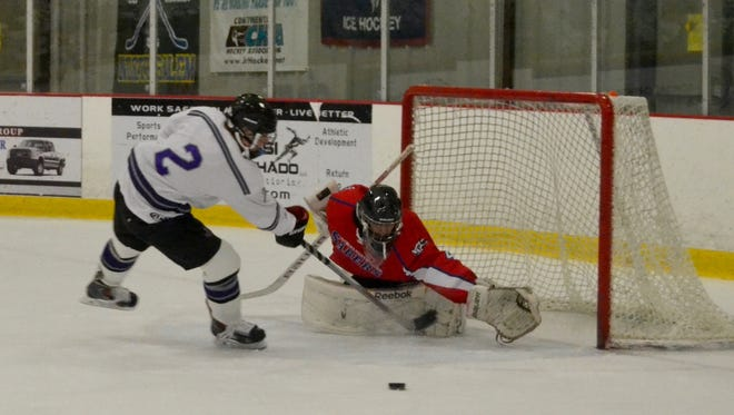 Somers/North Salem got a shootout win after John Jay's Sean Blaney lost control of the puck attempting to even the score.