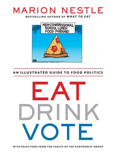 """New York University nutrition professor Marion Nestle shares more than 250 of her favorite cartoons and comics in her new book """"Eat, Drink, Vote: An Illustrated Guide to Food Politics,"""" created in collaboration with the Cartoonist Group."""
