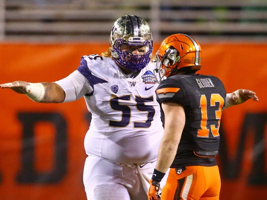 Washington's Danny Shelton taunts Oklahoma State wide