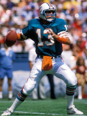Former Dolphins QB Dan Marino retired as the NFL's all-time leading passer.