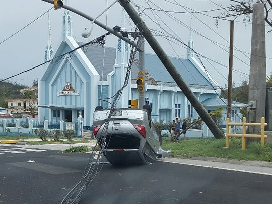 Typhoon Soudelor damage in Saipan, photographed Monday, Aug. 3.