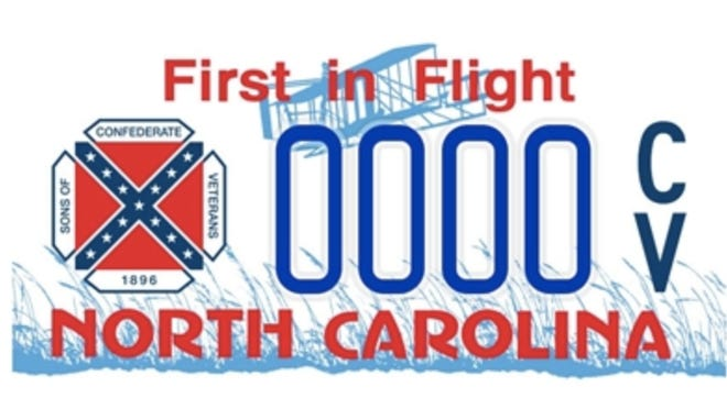 Sons of Confederate Veterans is one of the specialty license plates offered by the N.C. Department of Motor Vehicles for registered drivers. It cost a $30 personalization fee, plus a $10 plate fee.