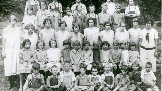 Camp Ground School in Houston County ca. 1923.