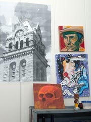 Matt Ritter, a Port Clinton artist, is looking to create large-scale murals on area buildings.