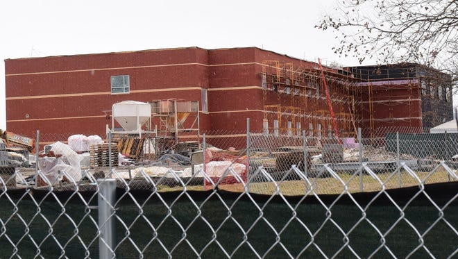 Marion Elementary School is photographed Thursday, Feb. 25, 2016. The school is expected to open next fall.