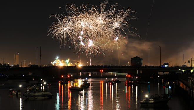 The Festival Foods Fireworks are scheduled to begin at 9:45 p.m. July 4 over the Fox River in downtown Green Bay.