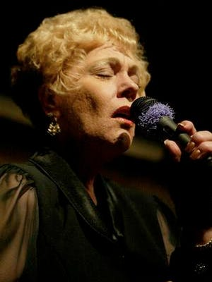 "Judy Day sings ""Am I Blue"" with Mike Caranda's Big Band at the Alamo Ballroom in 2005. The popular borderland singer will be honored with a memorial Saturday in El Paso's Upper Valley. She died in December 2015."