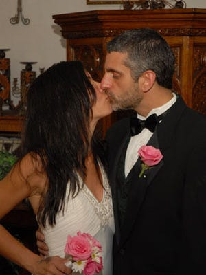Tina Plantamura and her husband on their wedding day.