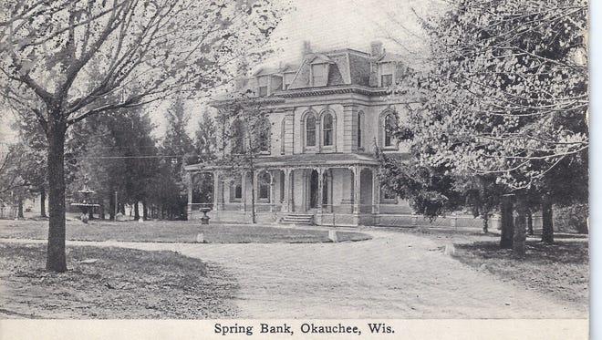 Captain Thomas Parker built Spring Bank on Oconomowoc Lake.