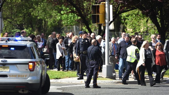 People from Bergen County Courthouse and Municipal building in Hackensack have been evacuated as police investigate reports of  bomb threats on May 4th, 2017