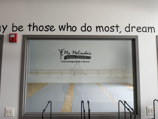 Inspirational sayings decorate the walls at the new
