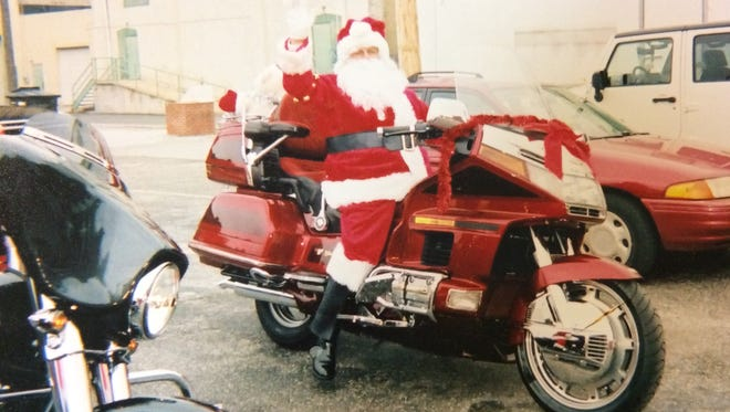 Each year, Ted Kauffman organizes a Santa ride, where he and a number of other motorcyclists hop on their bikes and drive around York County, some dressed in Claus costumes, waving at children and delivering stuffed animals.