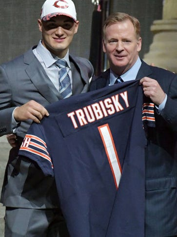 Mitchell Trubisky getting a Bears jersey was one of