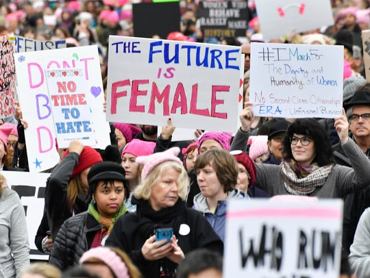 A general view during the Women's March on Washington