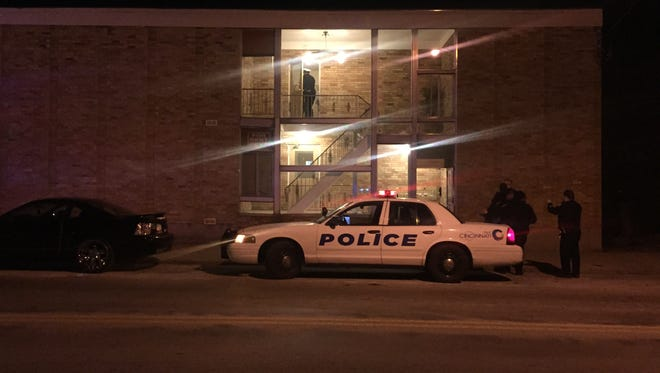 Police respond to the 6600 block of Vine Street after three were hospitalized in a triple stabbing.