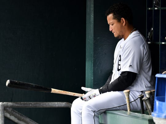 Tigers first baseman Miguel Cabrera will miss the rest