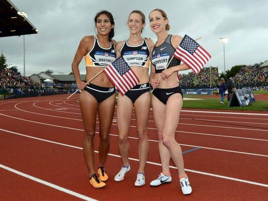 Brenda Martinez (left to right), Jenny Simpson and