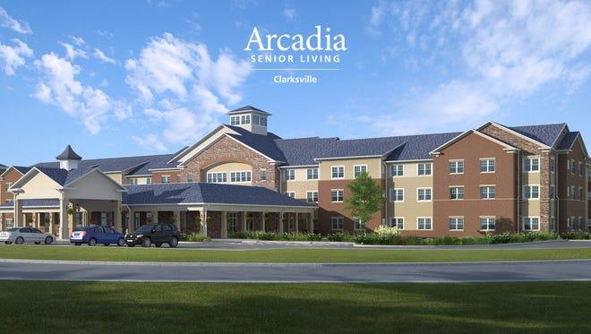 Artist rendering of the planned Arcadia Clarksville senior living community