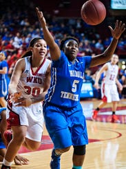 Western Kentucky forward Chastity Gooch (30) and Middle