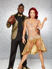 Antonio Brown, with partner Sharna Burgess, is one