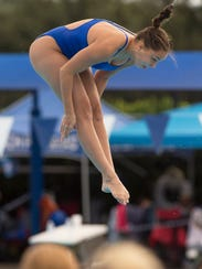 Titusville diver Kaitlyn Fredericks won the 2A state