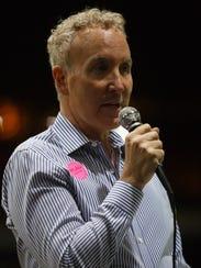 City Council member Geof Kors speaks at the Transgender